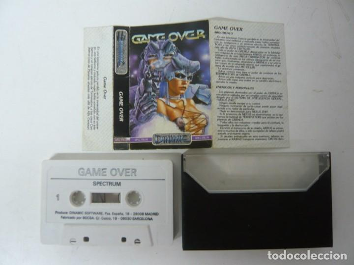 Videojuegos y Consolas: GAME OVER / SPECTRUM / SINCLAIR ZX SPECTRUM / RETRO VINTAGE / CASSETTE - Foto 2 - 268741804