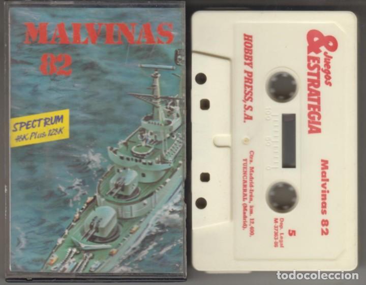 MALVINAS 82 CASSETTE VIDEOJUEGO SPECTRUM 1986 (Juguetes - Videojuegos y Consolas - Spectrum)