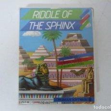 Videojuegos y Consolas: RIDDLE OF THE SPHINX / SPECTRUM / SINCLAIR ZX SPECTRUM / RETRO VINTAGE / CASSETTE. Lote 269104178