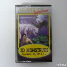 Videojuegos y Consolas: 3D MONSTRUOS / SINCLAIR ZX SPECTRUM / RETRO VINTAGE / CASSETTE. Lote 269698478