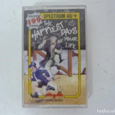 Videojuegos y Consolas: THE HAPPIEST DAYS OF YOUR LIFE / SINCLAIR ZX SPECTRUM / RETRO VINTAGE / CASSETTE. Lote 269700528