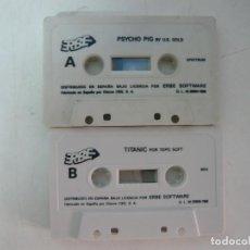 Videojuegos y Consolas: TITANIC Y PSYCHO PIG / ES UN CASSETTE / SOLO CINTA / SINCLAIR ZX SPECTRUM / RETRO VINTAGE / CASSETTE. Lote 269850968
