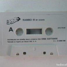 Videojuegos y Consolas: RAMBO 3 / SOLO CINTA / SINCLAIR ZX SPECTRUM / RETRO VINTAGE / CASSETTE. Lote 269850988