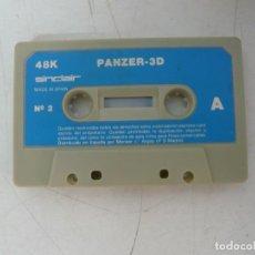 Videojuegos y Consolas: PANZER 3D / SOLO CINTA / SINCLAIR ZX SPECTRUM / RETRO VINTAGE / CASSETTE. Lote 269851303