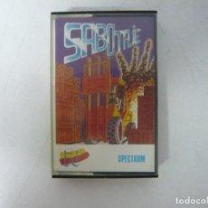 Videojuegos y Consolas: SABOTAJE / SINCLAIR ZX SPECTRUM / RETRO VINTAGE / CASSETTE. Lote 269995943