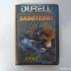 Videojuegos y Consolas: SABOTEUR / SINCLAIR ZX SPECTRUM / RETRO VINTAGE / CASSETTE. Lote 269996758