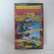 Videojuegos y Consolas: BREAKTHRU / SINCLAIR ZX SPECTRUM / RETRO VINTAGE / CASSETTE. Lote 269998523