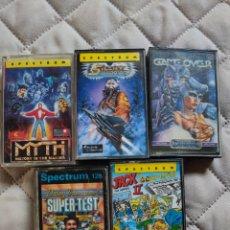 Videojuegos y Consolas: LOTE 5 VIDEOJUEGOS SPECTRUM. Lote 276013118