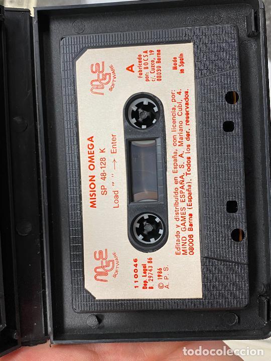 Videojuegos y Consolas: omega - rareza de mind games españa - estuche de plastico - completo con manual - SPECTRUM - Foto 3 - 276073973