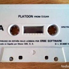 Videogiochi e Consoli: JUEGO EN CINTA CASETE SPECTRUM PLATOON OCEAN ERBE SIN TESTEAR SIN CAJA. Lote 276147288