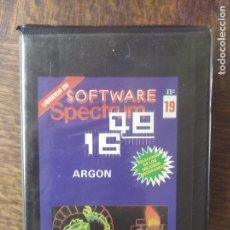 Videojuegos y Consolas: ARGON - SPECTRUM SOFTWARE.. Lote 285089068