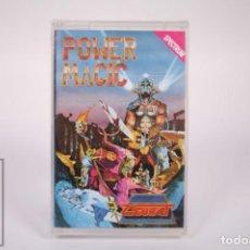 Videogiochi e Consoli: CASETE VIDEOJUEGO SPECTRUM - POWER MAGIC - ZIGURAT - CASSETTE PRECINTADO FABRICA. Lote 286262533
