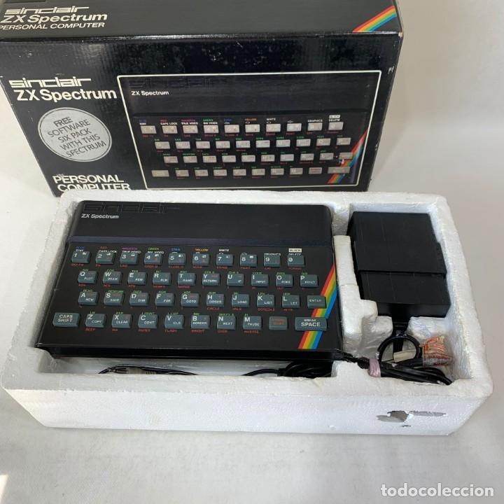 ORDENADOR SINCLAIR 48K - ZX SPECTRUM + CAJA + CORCHO + CABLES (Juguetes - Videojuegos y Consolas - Spectrum)