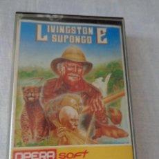 Videojuegos y Consolas: LIVINGSTONE SUPONGO - OPERA SOFT - 1987 - ZX SPECTRUM. Lote 288562998