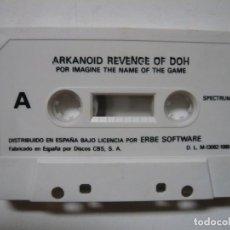 Videojuegos y Consolas: ARKANOID - REVENGE OF DOH - SOLO CINTA / SPECTRUM / SINCLAIR ZX SPECTRUM / RETRO VINTAGE / CASSETTE. Lote 288985693