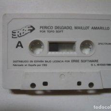 Videojuegos y Consolas: PERICO DELGADO - SOLO CINTA / SPECTRUM / SINCLAIR ZX SPECTRUM / RETRO VINTAGE / CASSETTE. Lote 288985903