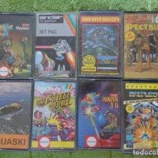 Videojuegos y Consolas: LOTE 8 JUEGOS SPECTRUM AGUASKI JET PAC PANZER INFILTRATOR RAID OVER MOSCOW ..... Lote 289212518