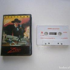 Videojuegos y Consolas: JUEGO DE SPECTRUM - ZORRO - ESTUCHE - ERBE. Lote 295343088