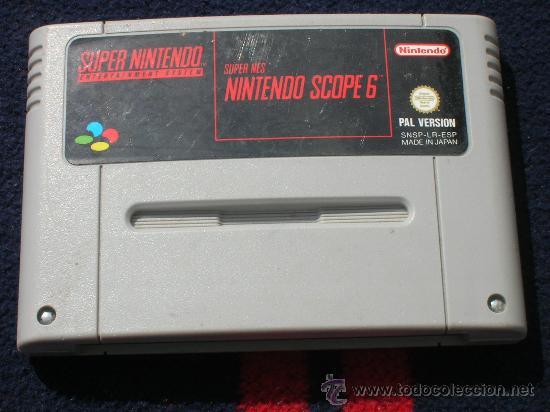 SUPER NES NINTENDO SCOPE 6 SIN CAJA NI INSTRUCCIONES SUPER NINTENDO (Juguetes - Videojuegos y Consolas - Nintendo - SuperNintendo)
