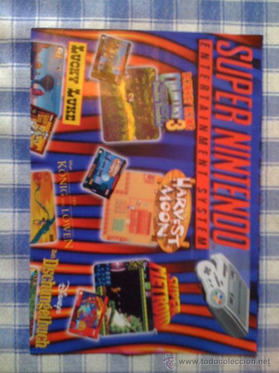 POSTER CARTEL CATÁLOGO SUPER NINTENDO SNES NES (Juguetes - Videojuegos y Consolas - Nintendo - SuperNintendo)