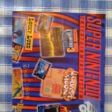 Videojuegos y Consolas: POSTER CARTEL CATÁLOGO SUPER NINTENDO SNES NES. Lote 24884864