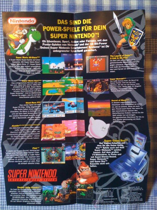 Poster De Super Nintendo Snes Nes Pal Cartucho Comprar Videojuegos