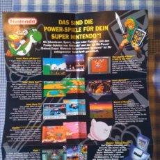 Videojuegos y Consolas: POSTER DE SUPER NINTENDO SNES NES PAL CARTUCHO VÍDEOJUEGO VÍDEO-JUEGO JUEGOS. Lote 26490500