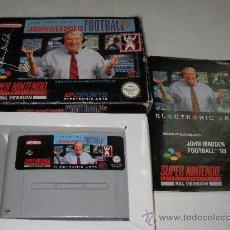 Videojuegos y Consolas: ANTIGUO JUEGO JOHN MADDEN FOOTBALL 93 EN SU CAJA. Lote 27919324