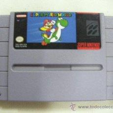 Videojuegos y Consolas: JUEGO SUPERNINTENDO SUPER MARIO WORLD. Lote 29246199