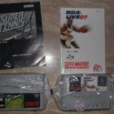 Videojuegos y Consolas: LOTE DE 2 JUEGOS SUPERNINTENDO NBA LIVE 97 Y SUPER TENNIS. Lote 29968165