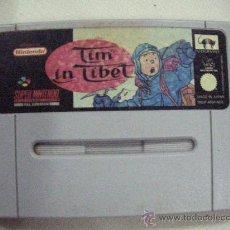 Videojuegos y Consolas: ANTIGUO JUEGO SUPER NINTENDO TIN TIN EN EL TIBET. Lote 30514984
