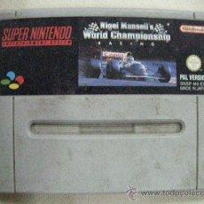 Videojuegos y Consolas: ANTIGUO JUEGO SUPER NINTENDO NIGEL MANSELL´S WORLD CHAMPIONSHIP RACING. Lote 30949716