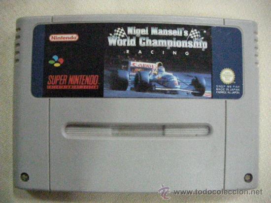 ANTIGUO JUEGO SUPER NINTENDO NIGEL MANSELL´S WORLD CHAMPIONSHIP RACING (Juguetes - Videojuegos y Consolas - Nintendo - SuperNintendo)