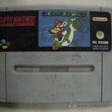 Videojuegos y Consolas: ANTIGUO JUEGO SUPER NINTENDO SUPER MARIO WORLD. Lote 30949752