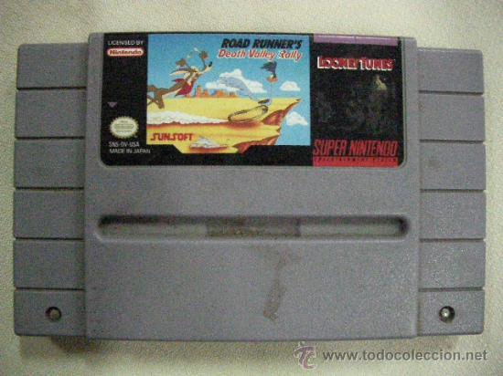 ANTIGUO JUEGO SUPER NINTENDO CORRECAMINOS - ROAD RUNNER´S DEATH VALLEY RALLY (Juguetes - Videojuegos y Consolas - Nintendo - SuperNintendo)