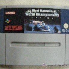 Videojuegos y Consolas: ANTIGUO JUEGO SUPER NINTENDO NIGEL MANSELL´S WORLD CHAMPIONSHIP RACING . Lote 30976577
