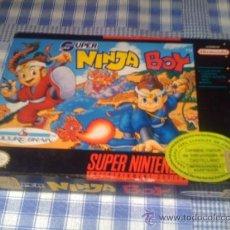 Videojuegos y Consolas: SUPER NINJA BOY JUEGO PARA SUPER NINTENDO SNES NTSC USA CON CAJA AMERICANO. Lote 32993320