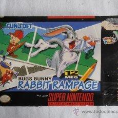 Videojuegos y Consolas: JUEGO SUPERNINTENDO SNES SUPER NINTENDO NTSC USA BUGS BUNNY CAJA ORIGINAL . Lote 36488935