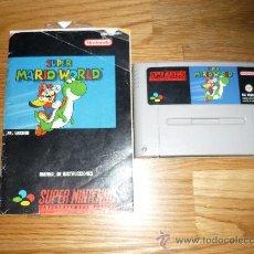 Videojuegos y Consolas: SUPER MARIO WORLD SUPER NINTENDO SNES PAL ESPAÑA CON MANUAL. Lote 38358162