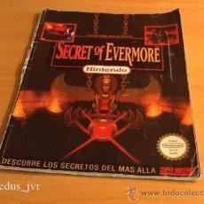 Videojuegos y Consolas: SECRET OF EVERMORE LIBRO DE PISTAS JUEGO PARA SUPER NINTENDO SNES PAL VERSIÓN ESPAÑOLA. Lote 36520217