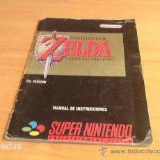 Videojuegos y Consolas: ZELDA A LINK TO THE PAST PARA SUPER NINTENDO SNES PAL MANUAL DE INSTRUCCIONES LIBRETO LIBRO USUARIO. Lote 37484010