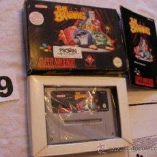 Videojuegos y Consolas: ANTIGUO JUEGO SUPERNINTENDO THE BRAINIES COMO NUEVO EN SU CAJA. Lote 38005659