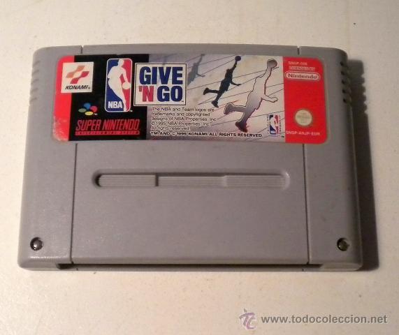 NBA GIVE´N GO - SUPER NINTENDO- 1.995 (Juguetes - Videojuegos y Consolas - Nintendo - SuperNintendo)