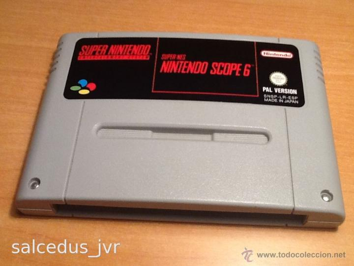 NINTENDO SCOPE 6 JUEGO PARA SUPER NINTENDO SNES PAL ESP VERSIÓN ESPAÑOLA CARTUCHO EN BUEN ESTADO (Juguetes - Videojuegos y Consolas - Nintendo - SuperNintendo)