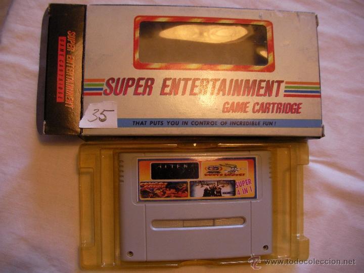 ANTIGUO JUEGO SUPER NINTENDO 4 EN 1 - NUEVO EN SU CAJA (Juguetes - Videojuegos y Consolas - Nintendo - SuperNintendo)