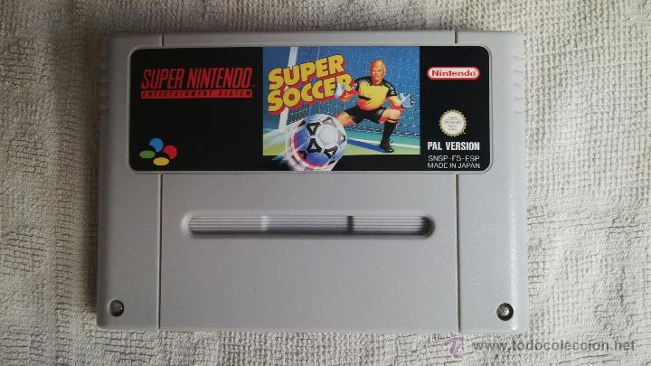 SUPER NINTENDO: SUPER SOCCER (Juguetes - Videojuegos y Consolas - Nintendo - SuperNintendo)
