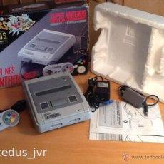 Videojuegos y Consolas: CONSOLA SUPER NINTENDO SNES PAL ESPAÑA COMPLETA CON CAJA Y EN BUEN ESTADO. Lote 45151452