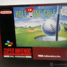 Videojuegos y Consolas: HAL´S HOLE ONE GOLF-JUEGO SUPERNINTENDO. Lote 47675382