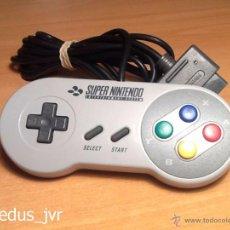 Videojuegos y Consolas: MANDO CONTROLADOR ORIGINAL PARA SUPER NINTENDO SNES EUROPEO EN BUEN ESTADO GENUINO JOYSTICK PAD. Lote 48621051