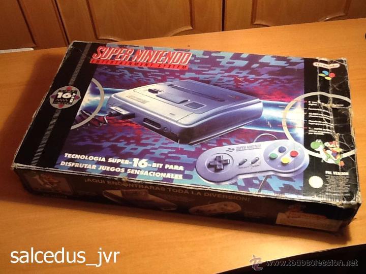 CONSOLA SUPER NINTENDO SNES PAL COMPLETA CON CAJA EMBALAJE ORIGINAL FUNCIONANDO REGULAR (Juguetes - Videojuegos y Consolas - Nintendo - SuperNintendo)